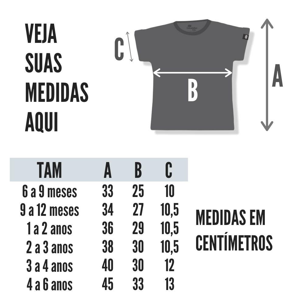 tabela de medidas camiseta infantil