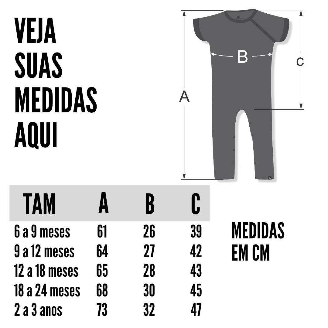 Tabela de Medidas Macacão Infantil