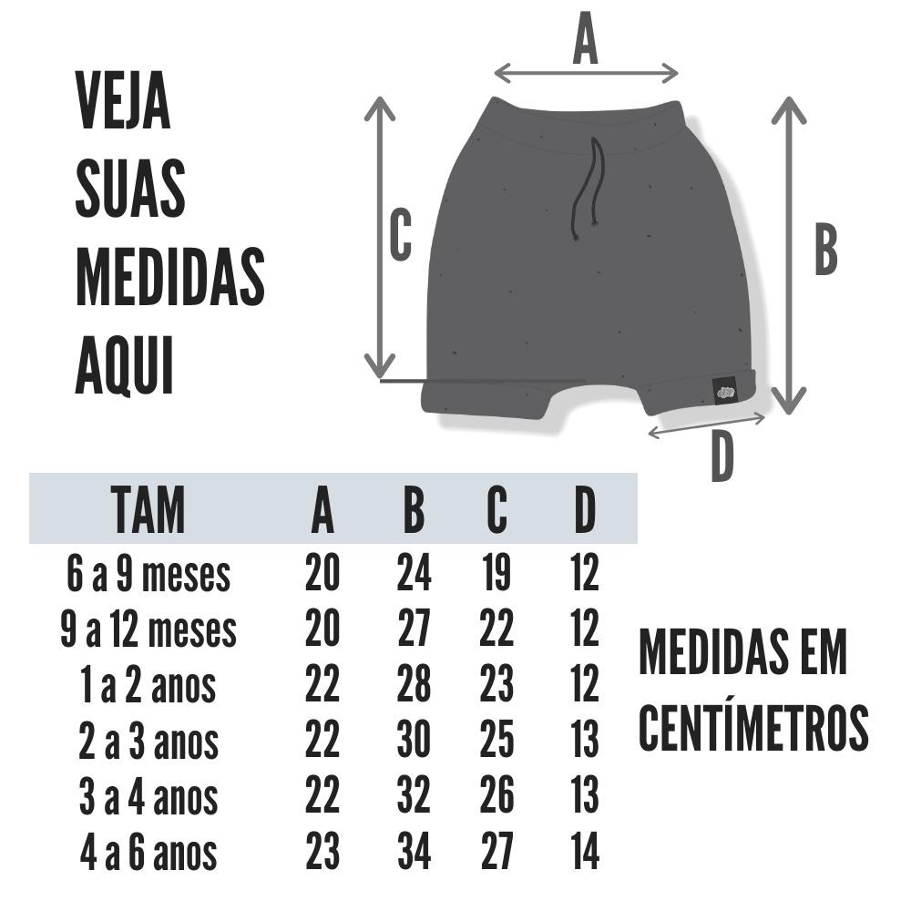 tabela medidas short saruel