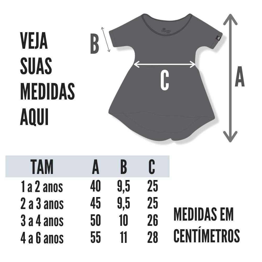 tabela de medidas do vestido infantil