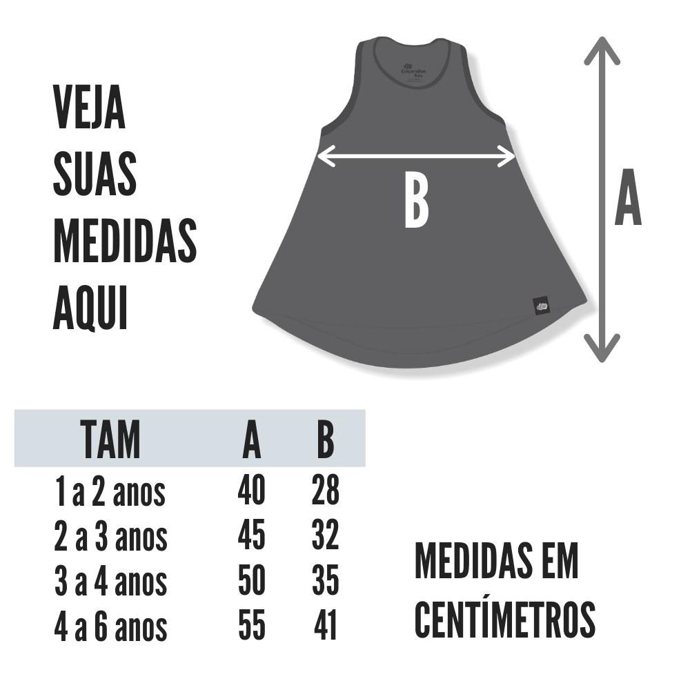 tabela de medidas vestido infantil nadador