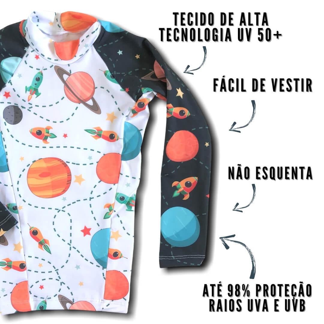 camisa proteção uv infantil