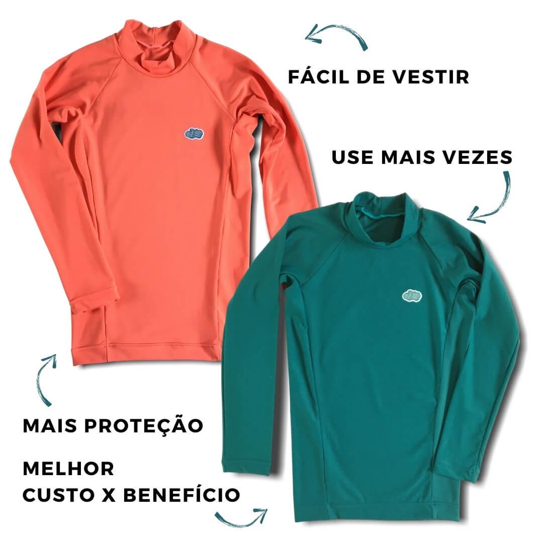 combo de camisetas com proteção uv