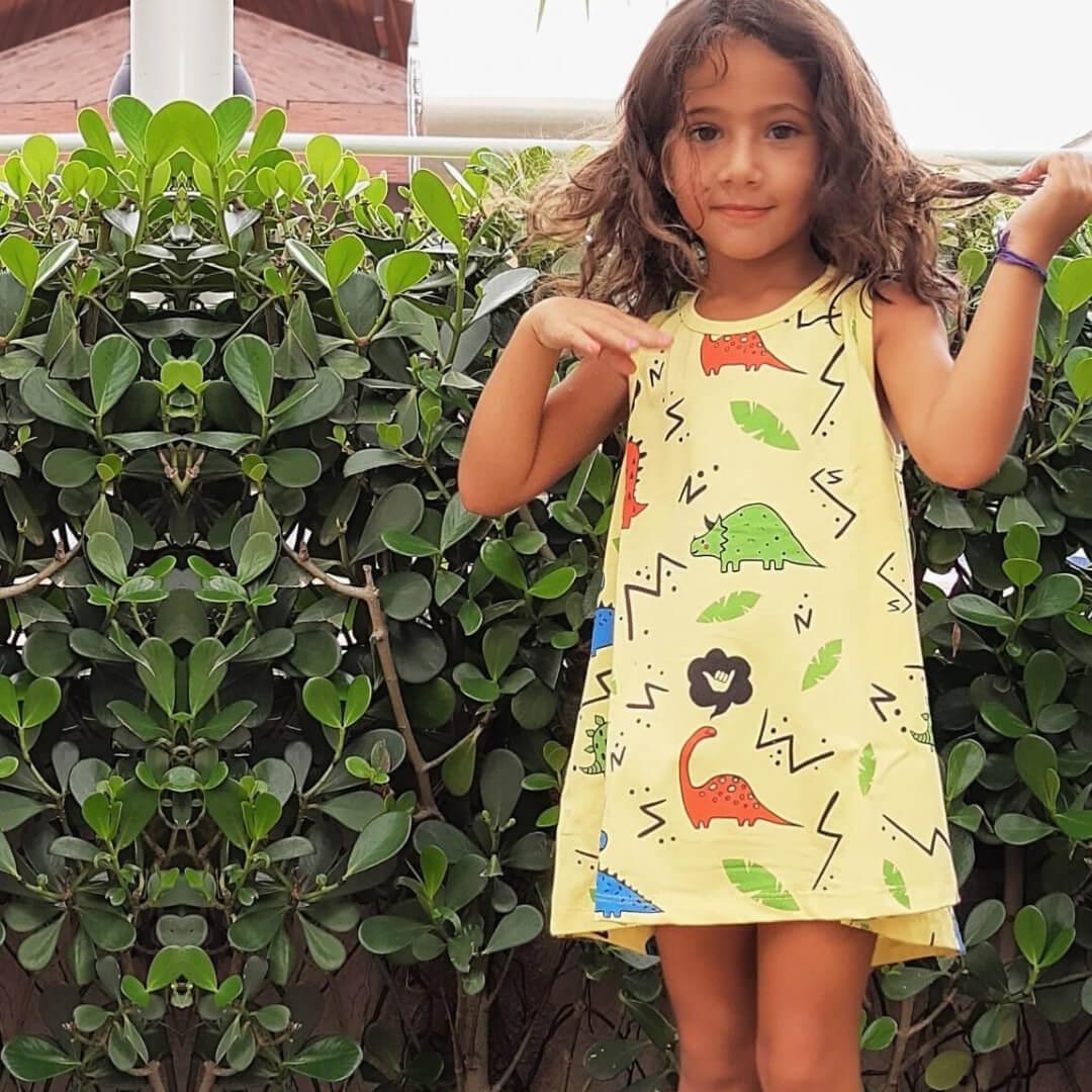 vestido infantil confortavel