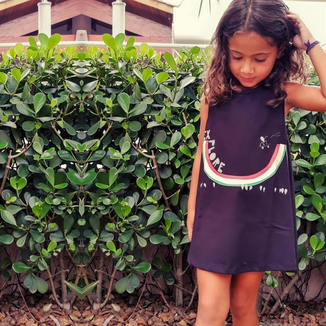vestido verão menina