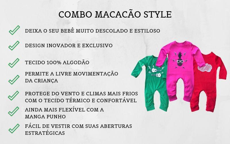COMBO MACACÃO INFANTIL LONGO