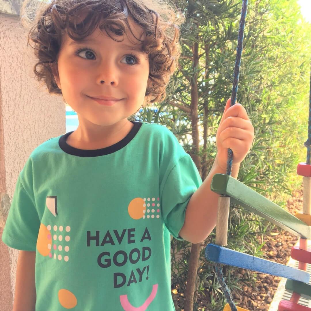 camiseta de criança