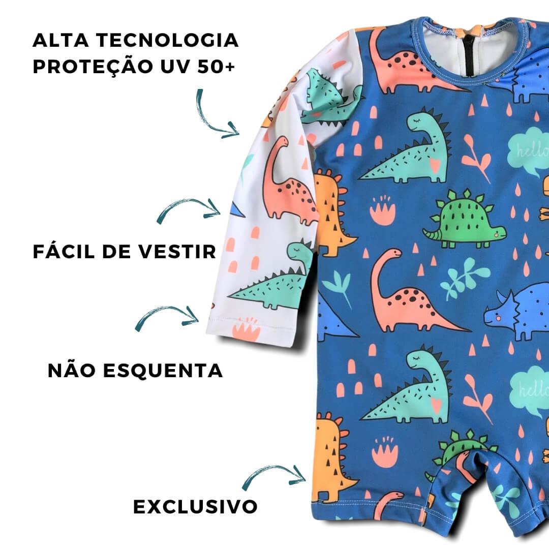 roupa infantil com proteção solar