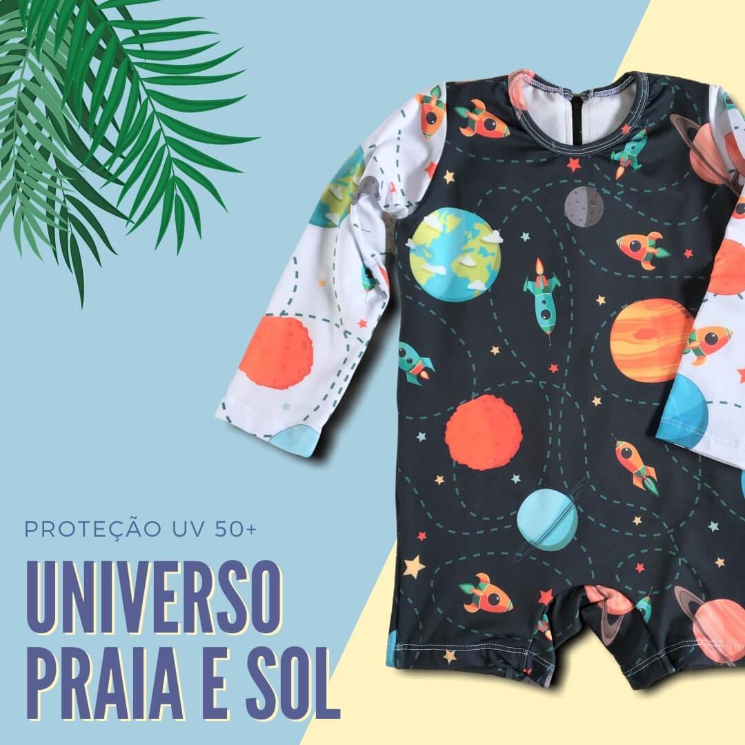 roupa com proteção solar infantil