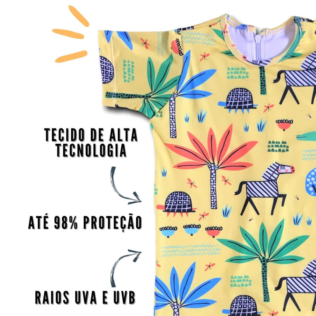 moda praia bebe safari com proteção uv 50+