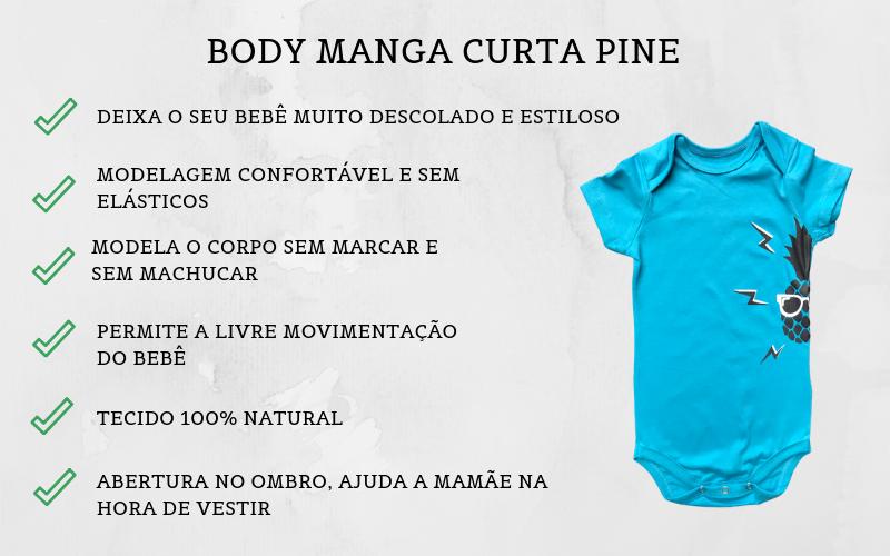 Body de Bebê Pine Azul