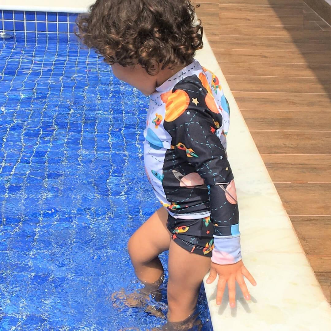 moda praia infantil proteção solar