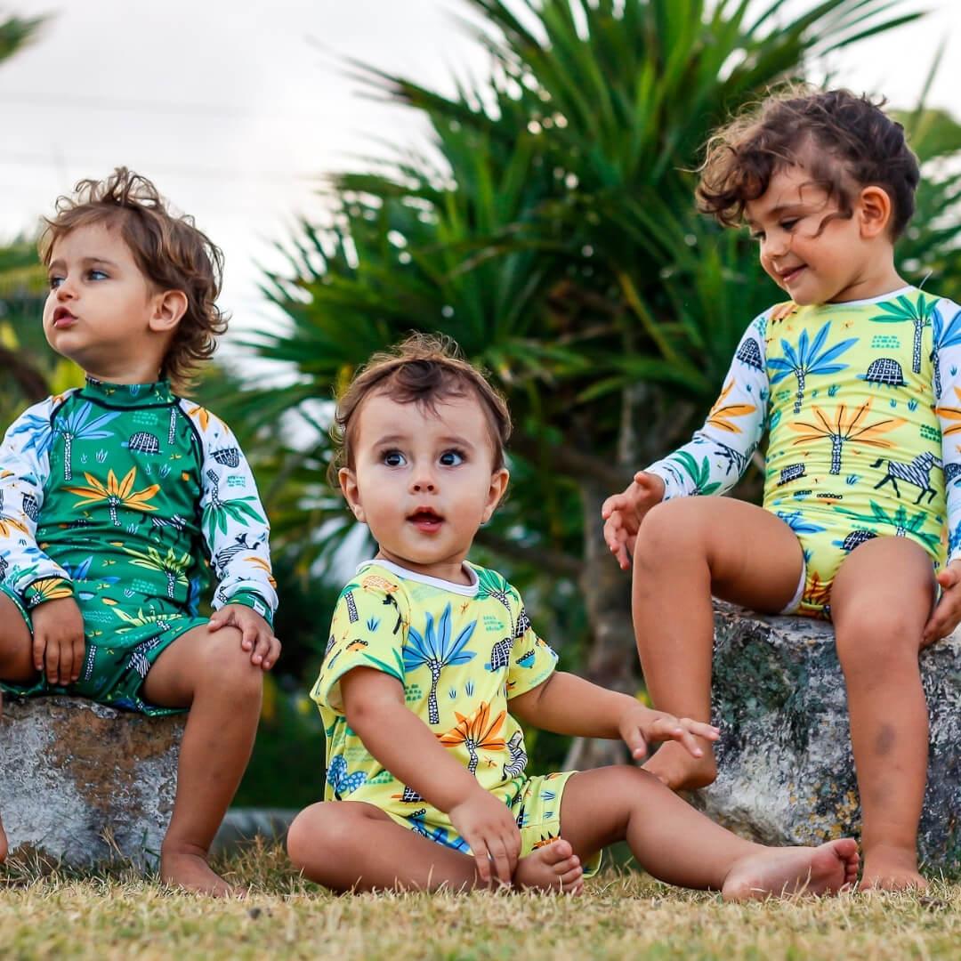 roupa com proteção uv 50+ infantil