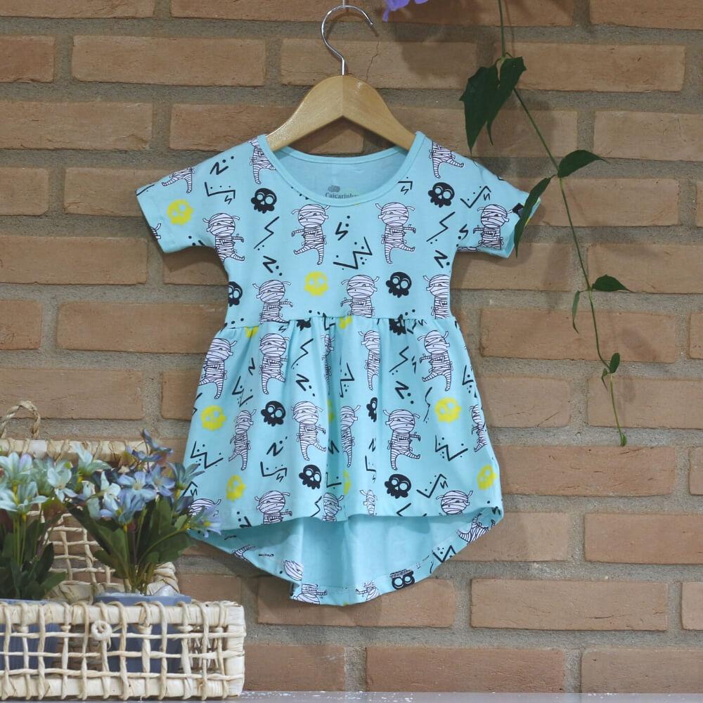 vestido infantil verde claro