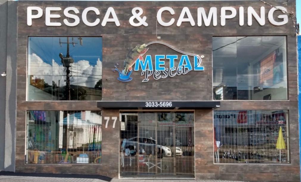 Loja física Metal Pesca, localizada em Apucarana - Pr