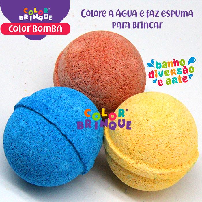 produto color bomba esferas de banho efervescente das cores: vermelho, azul, amarelo que colorem a água e fazem espuma