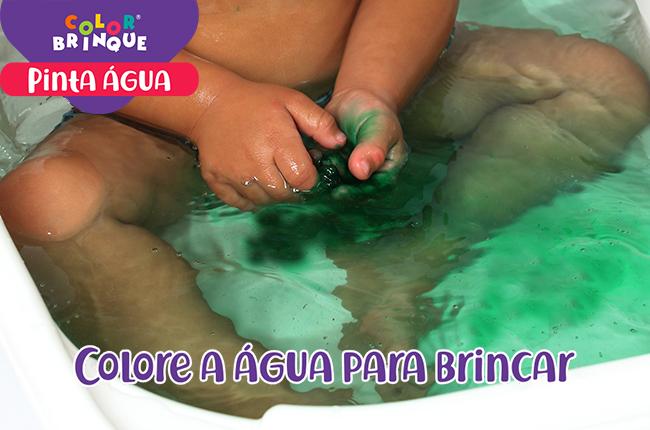 Pastilha efervescente - colore agua diversao no banho