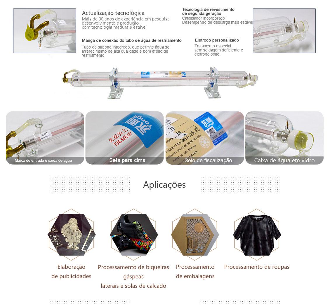 Tubo de Laser de Dióxido de Carbono Yongli 130W 12