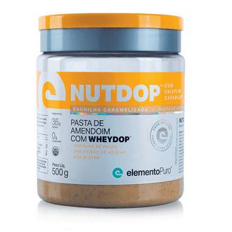 Nutdop Pasta de Amendoim Proteica Baunilha Caramelizada 500g Elemento Puro