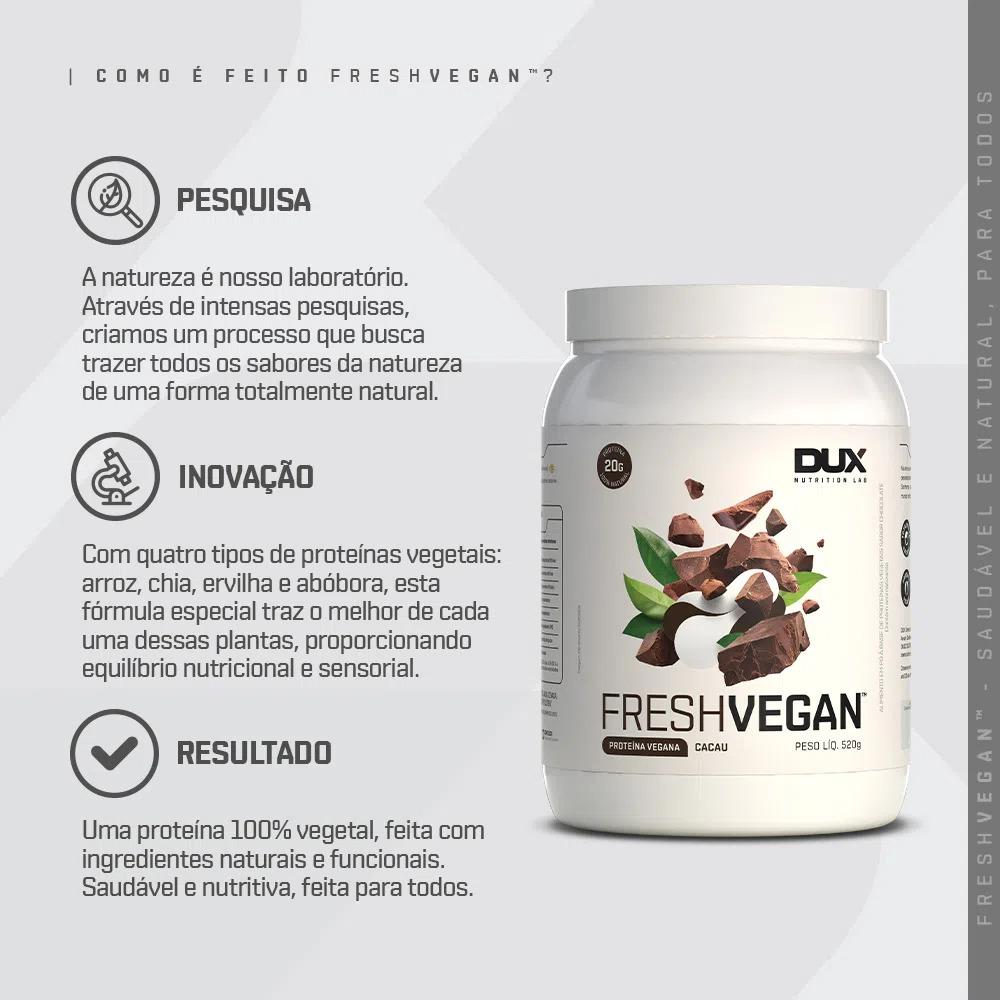 Como é feito o Fresh Vegan Dux Proteina Vegana