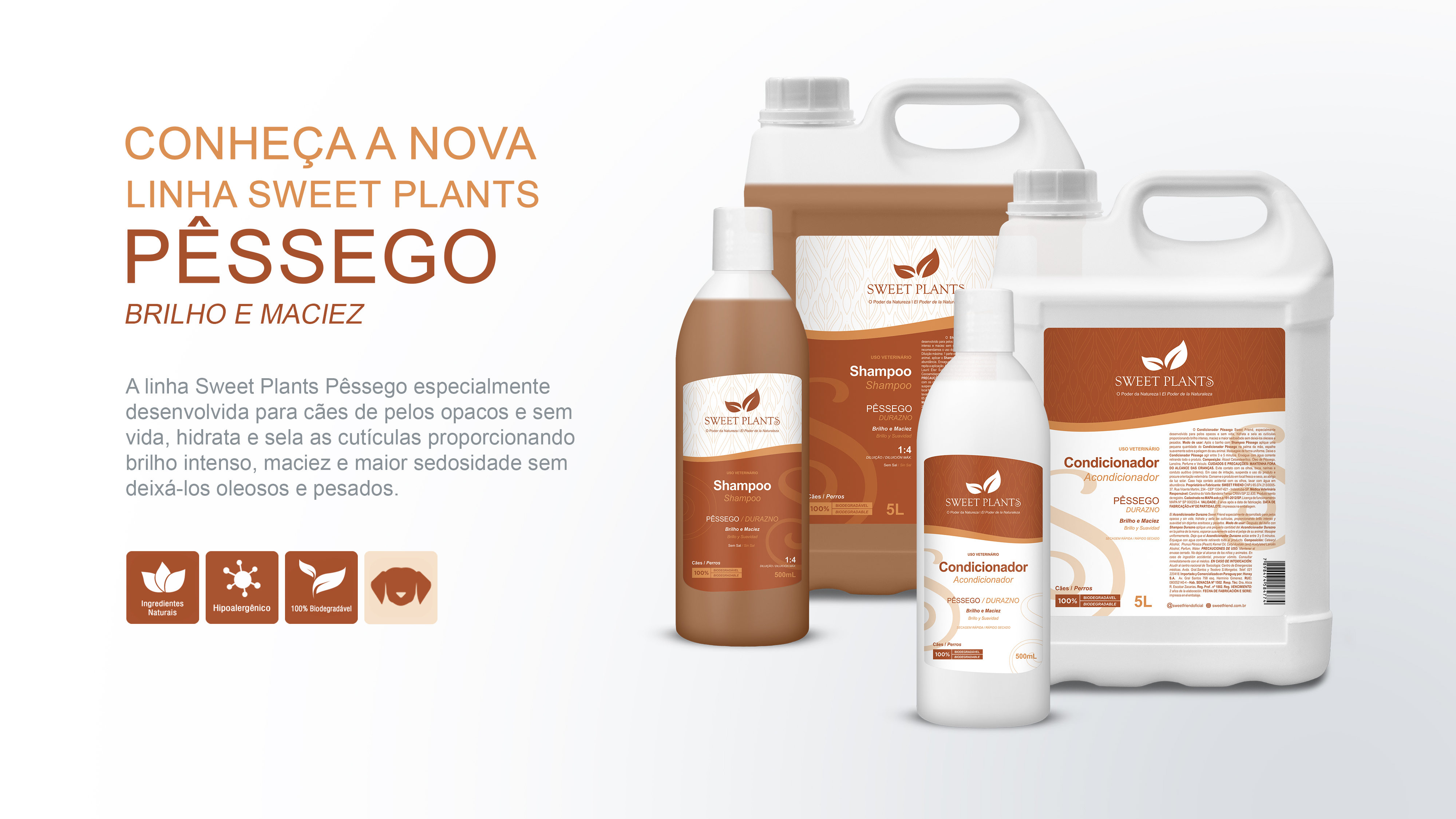Sweet Friend - Linha Sweet Plants - Pêssego