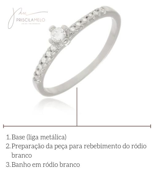 Processo do Banho de Ródio Branco - Priscila Melo Joias