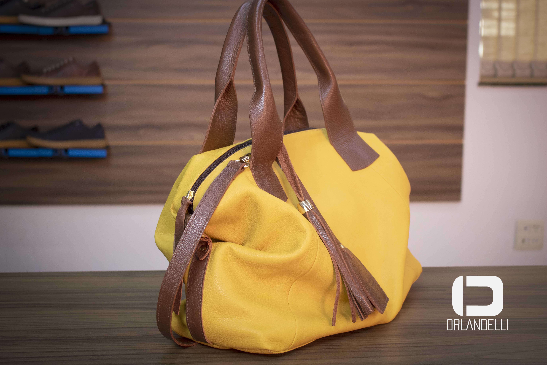 Bolsa Feminina Orlandelli Isla Amarela - Referência: 100030P22