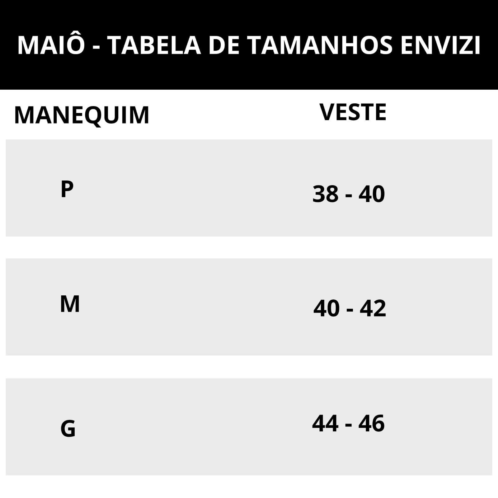 tabela de tamanhos de maio fio dentkl envizi
