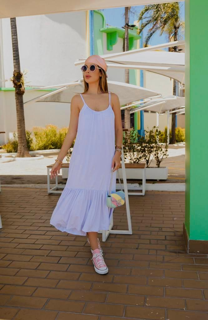 Vestido Regata Malha Branco