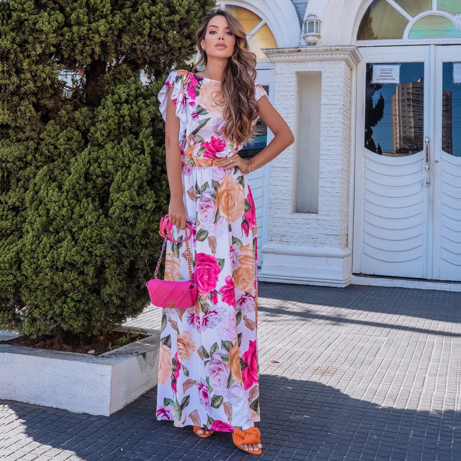 Vestido Longo Floral Fluit