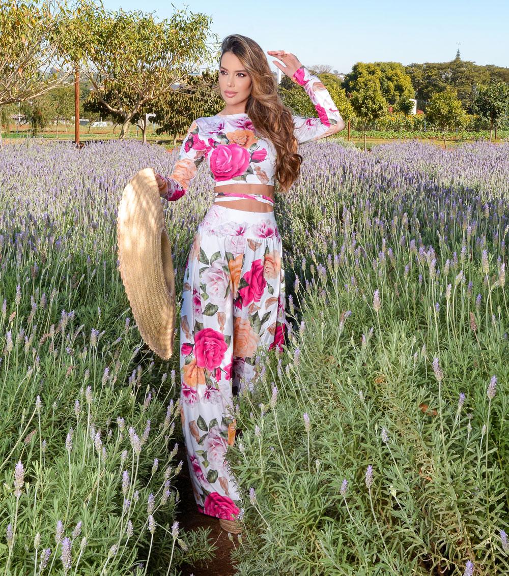 Conjunto Fluit Estampa Floral no Atacado de Moda On Line
