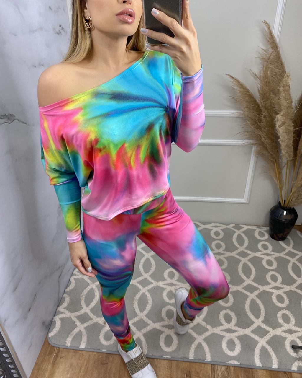 Conjunto Feminino Estampa Tie Dye
