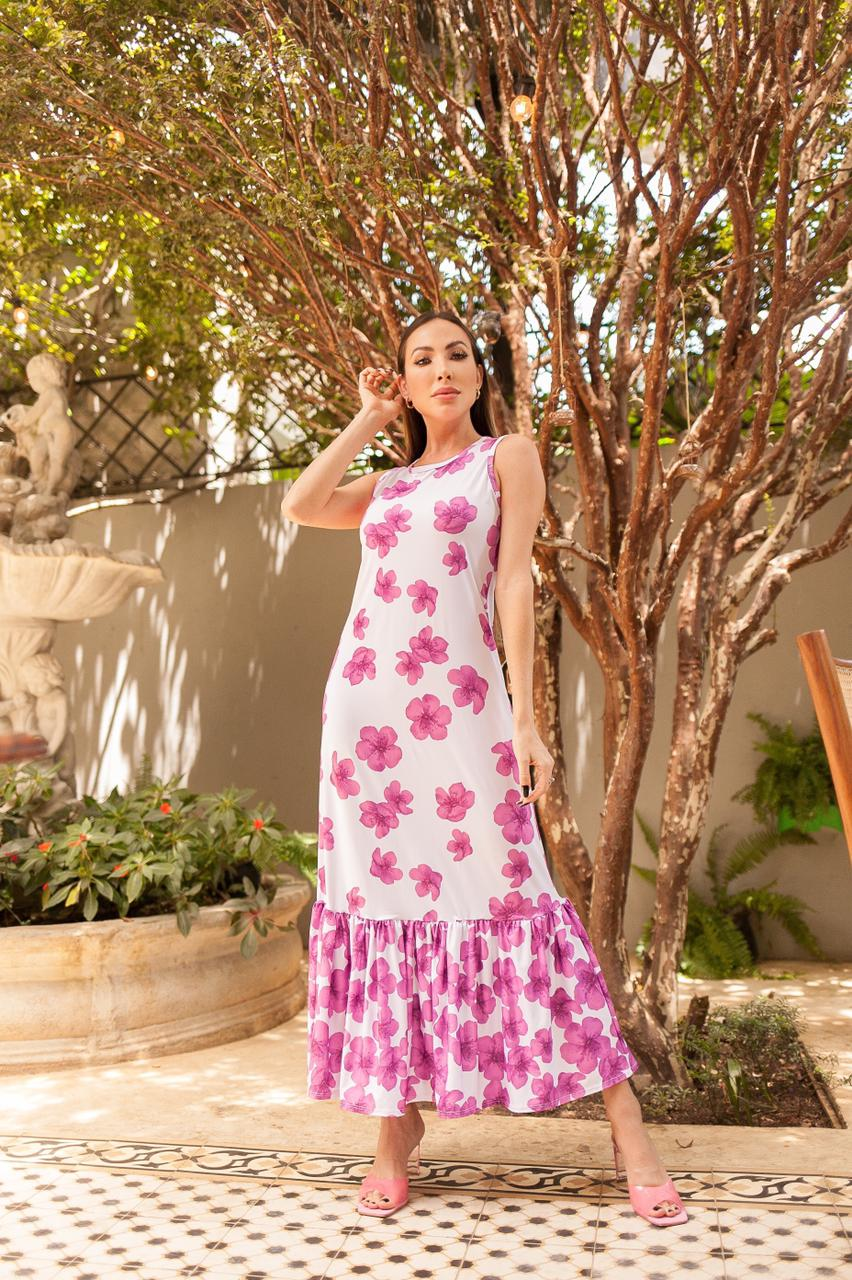 Vestido Babado Floral Summer