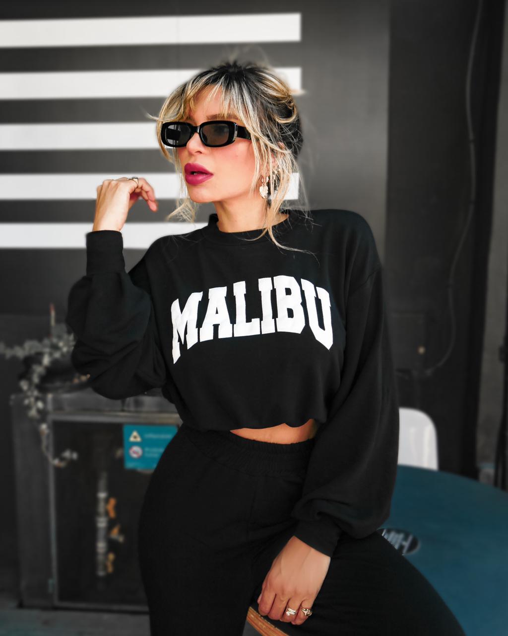 Conjunto Malibu Preto Longo