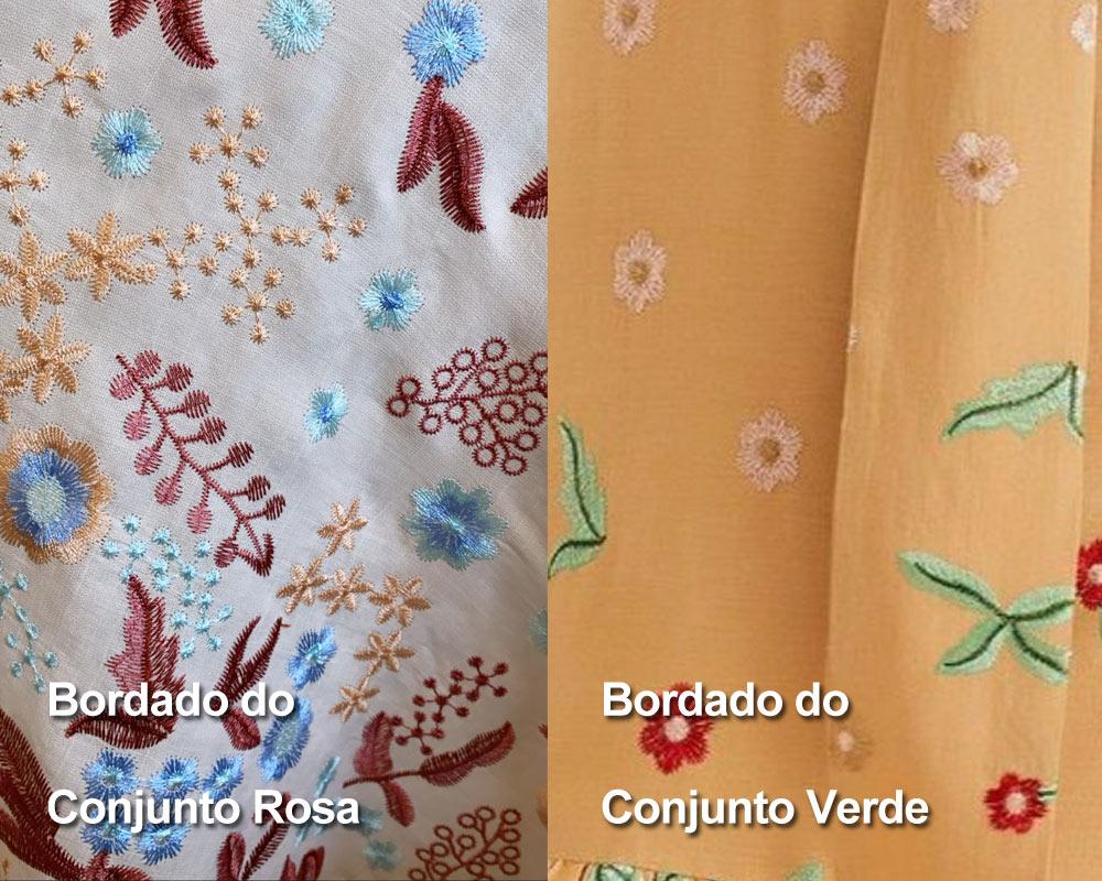 Detalhes dos Bordados