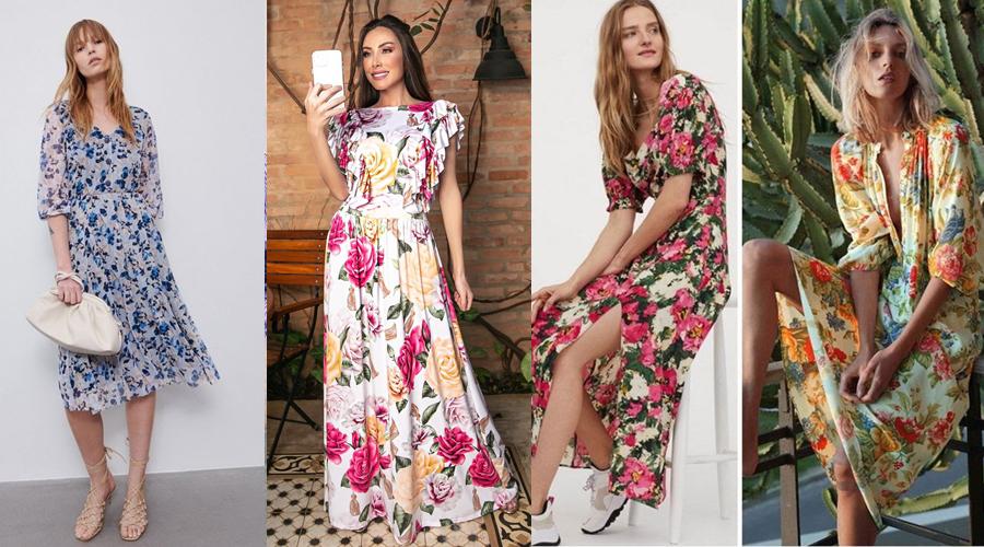 Vestidos com Estampas Florais