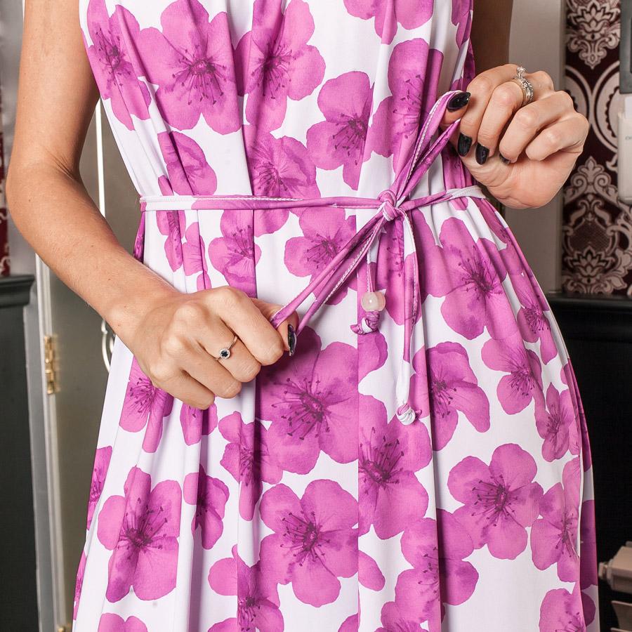 Detalhe do Vestido Longo Floral
