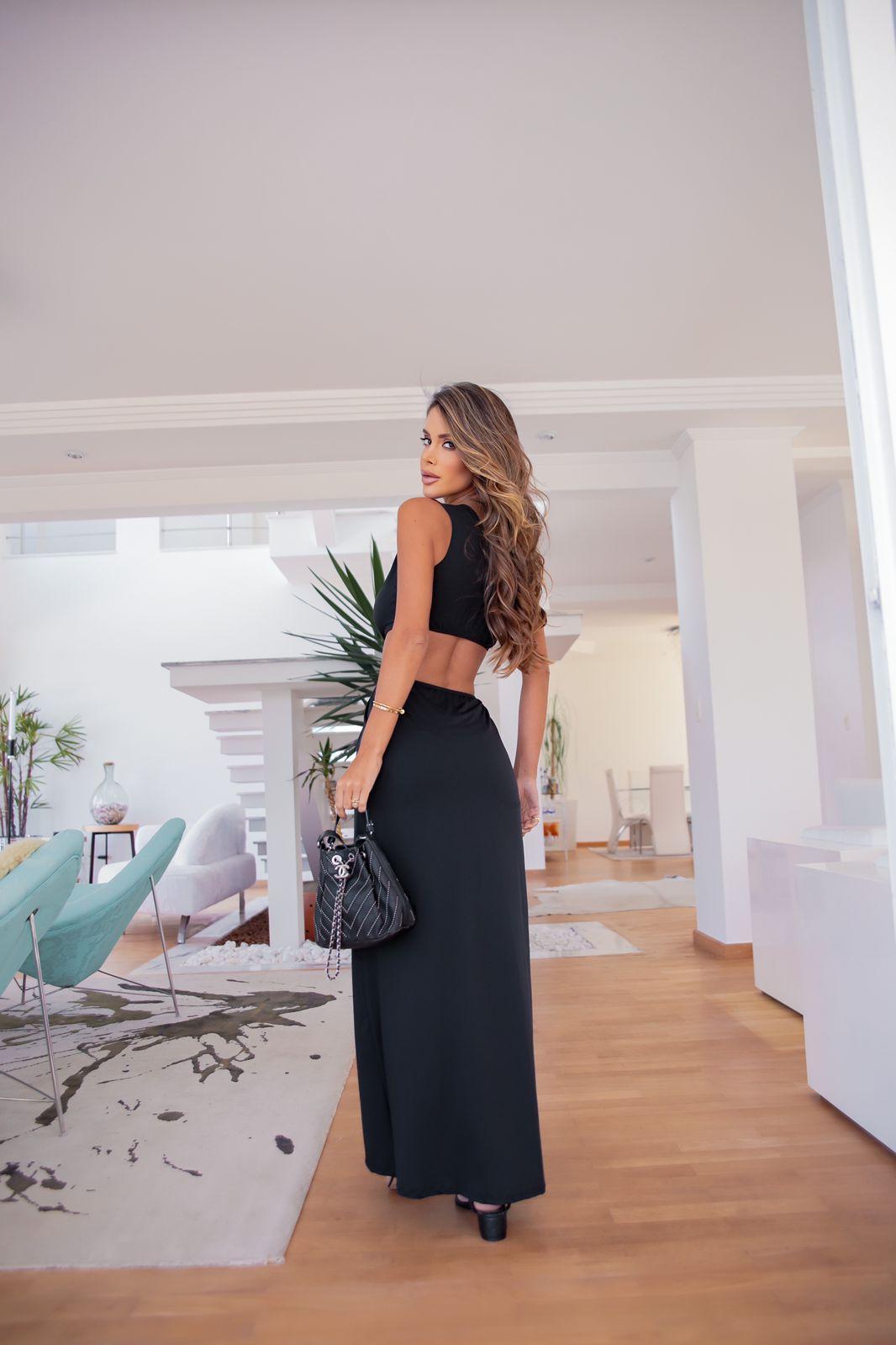 Vestido Milena Fluit preto
