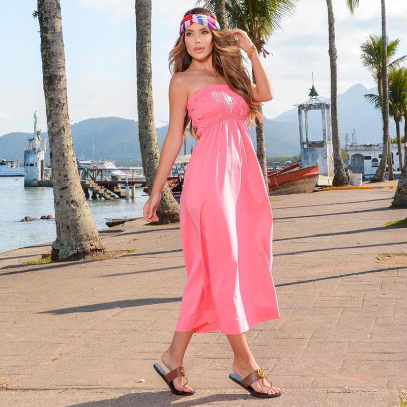 Vestido Volante Rosa