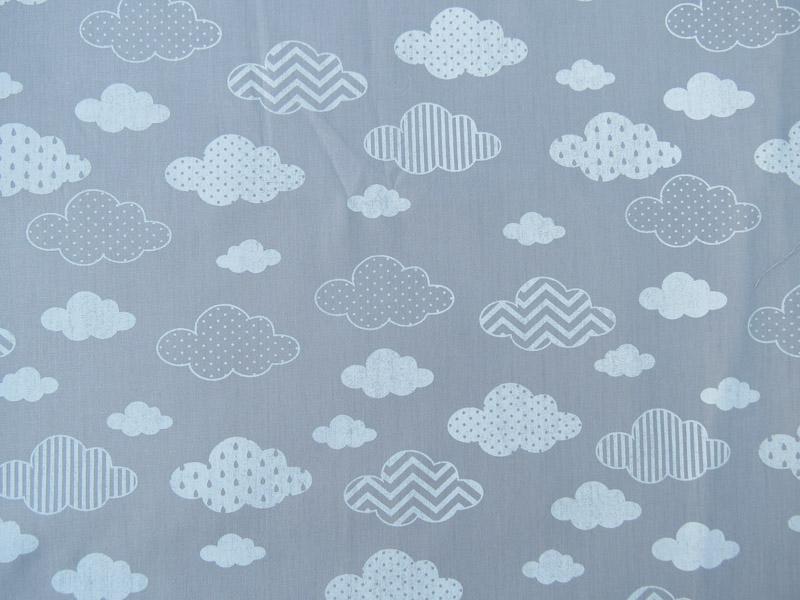 estampa nuvem cinza