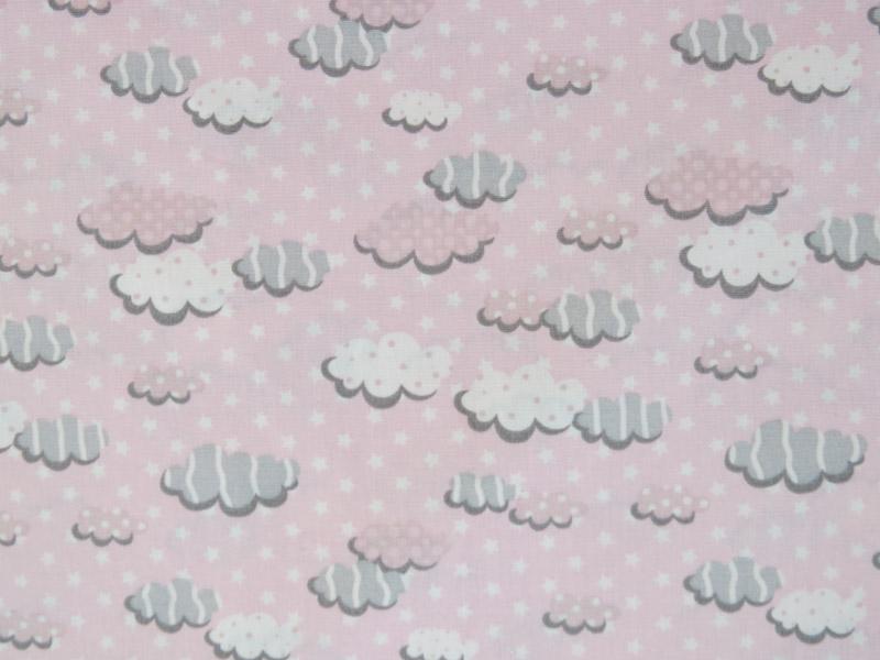 estampa nuvem rosa e cinza