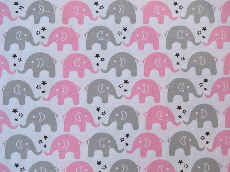 estampa elefante rosa