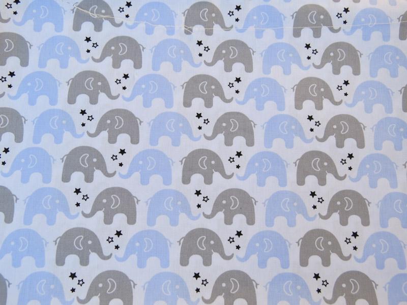 estampa elefante azul