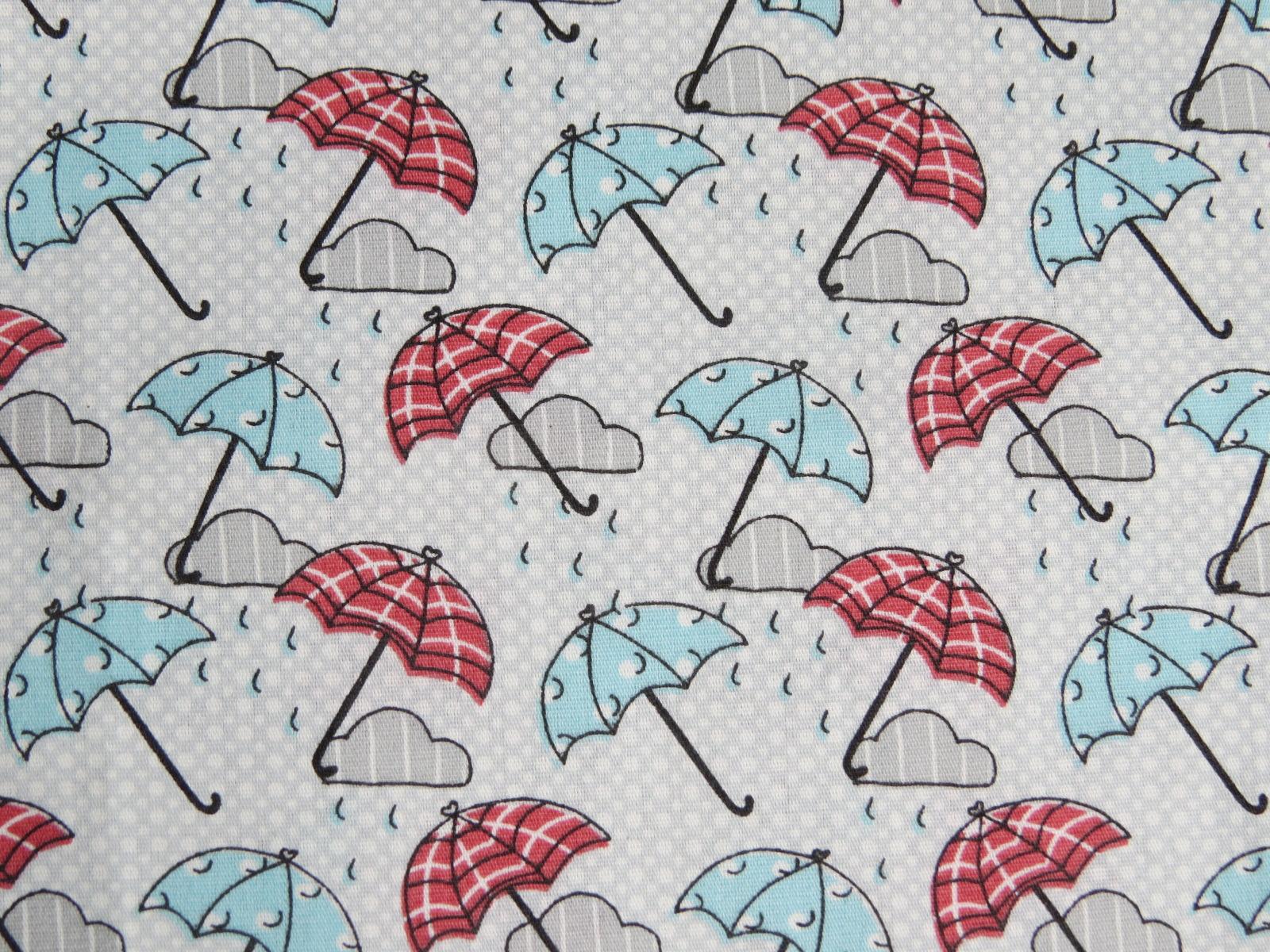 estampa guarda chuva rosa