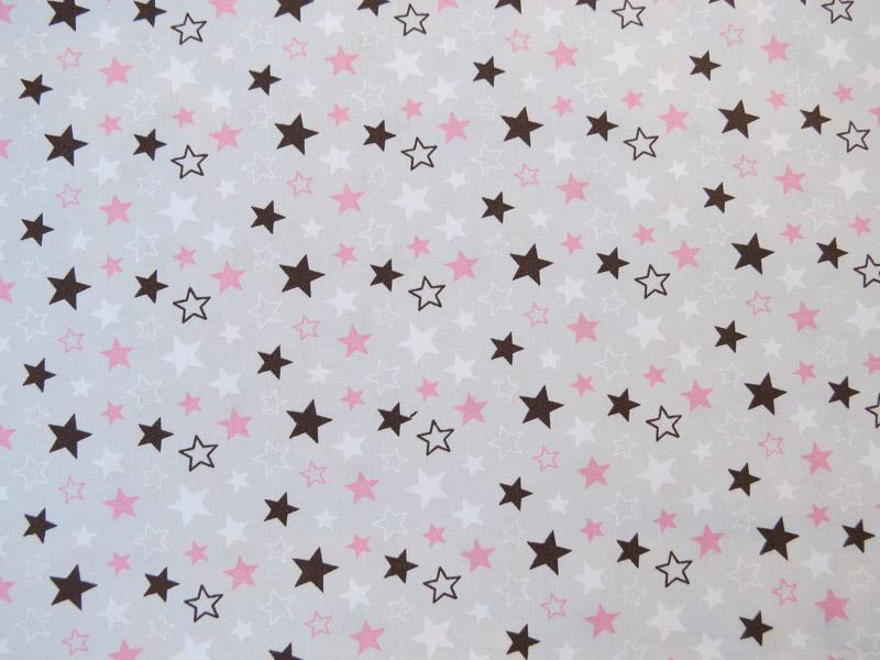 estrela rosa e marrom