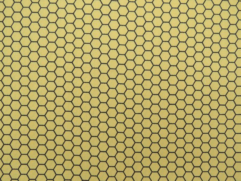 estampa favo amarelo