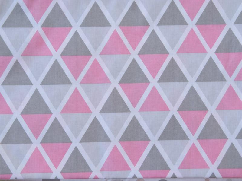 estampa maxi triangulo rosa e cinza