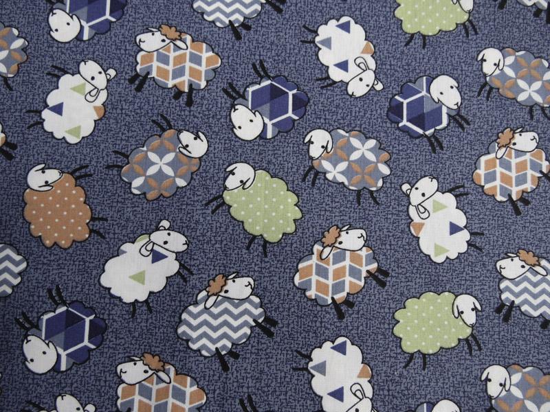 estampa ovelhas  azul