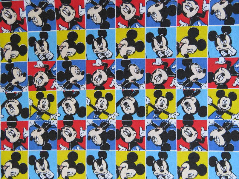 estampa mickey mouse quadrinhos