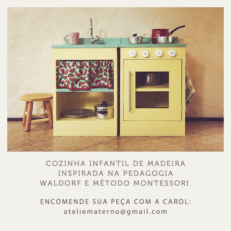 A primeira divulgação da Cozinha Sofia que estourou o Ateliê Materno.